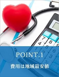 POINT.1 費用は地域最安値